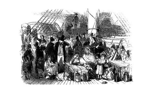 Irish Immigration - Famine Ship Image