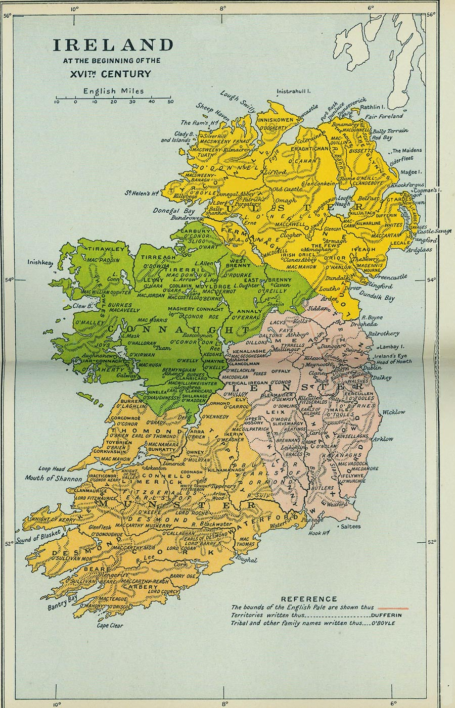 Map Showing Origin Of Irish Last Names