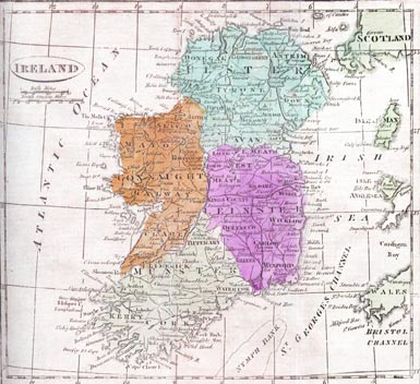 Ireland Map Provinces