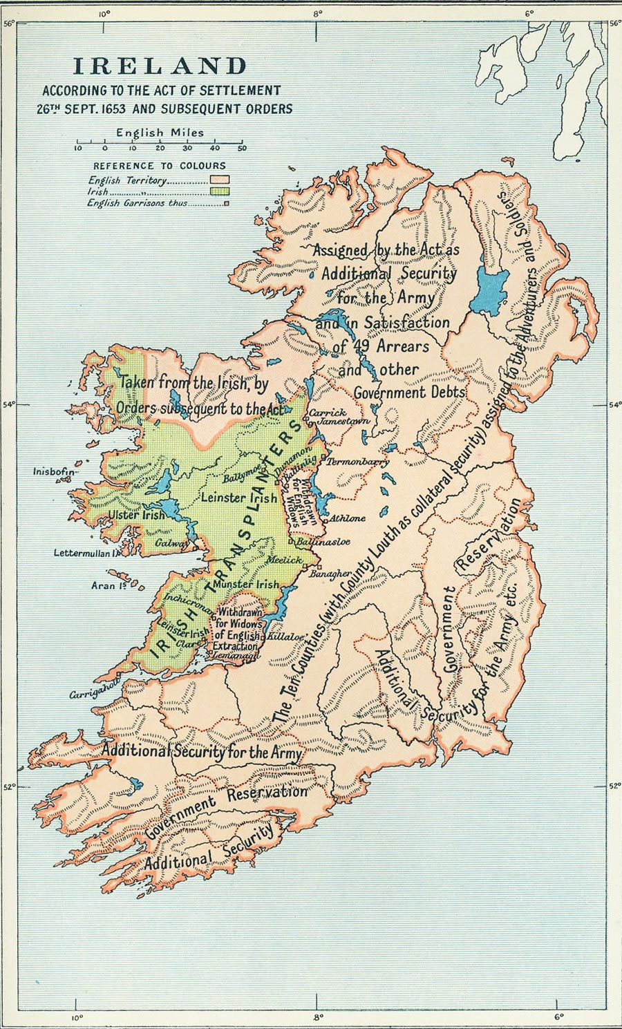 Enterprising image in map of ireland printable