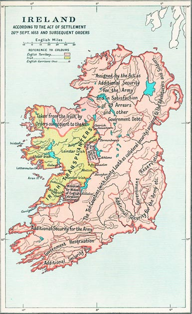 Ireland Map Settlement Act 1653