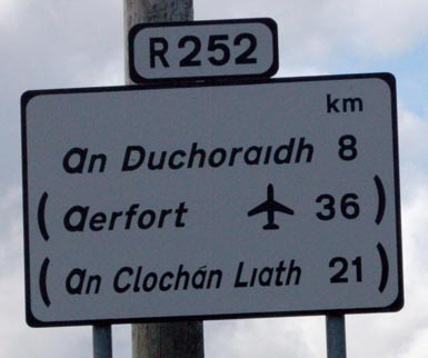 Ireland Road Sign