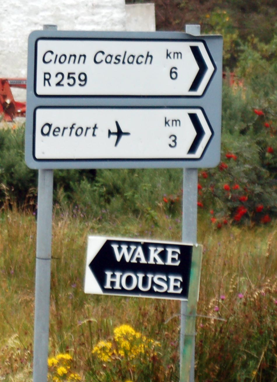 Irish Wake House Sign - Irish Culture